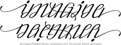"""Imagine"" & ""Dreamer"" Ambigram"