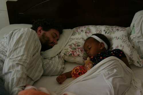 ababi and zinashi's first nap together