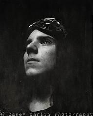 Dark Future (Casey Carlin) Tags: portrait bw film dark gothic f16 4x5 zack fp4 largeformat cyberpunk textured 5x4 iso125 preraphaelites darkfuture 60ths collegeprojectdigitalimagingproject