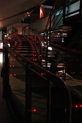 Le modle.... (mamnic47 - Over 6 millions views.Thks!) Tags: escalier boulognebillancourt effetsdelumires lumiresrouges jardinskhan