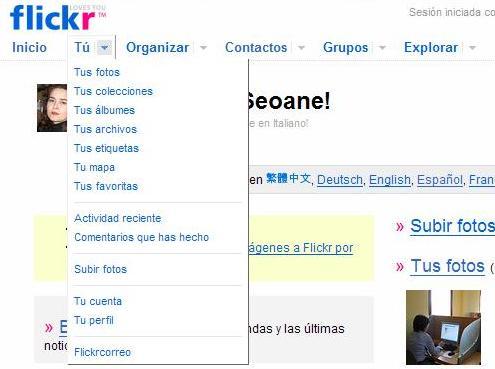 Flickr por fin en español