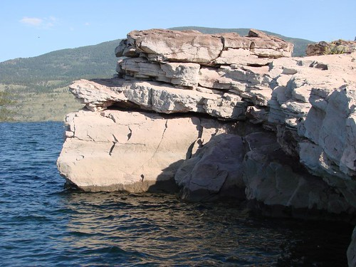 Face on rocks