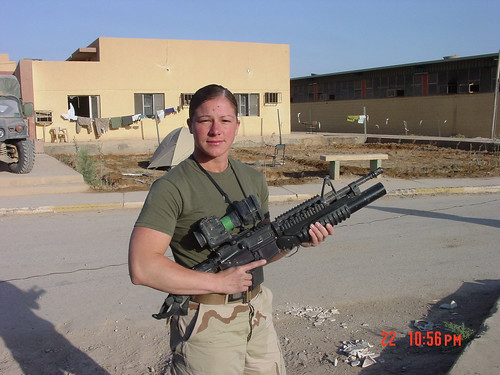 Jaime Buffalari in Iraq