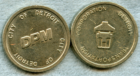 detroit people mover tokens small