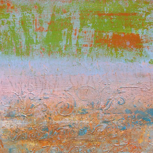 Abstract_art_original_Rainbow Sherbet  20x20