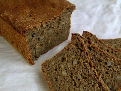 Homemade wholemeal rye and barley sourdough