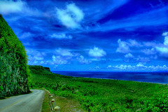 Road to Tarague Beach (harogi) Tags: blue green beach clouds saturated andersen hdr guam bluegreen rota herradura aafb taraguebeach haroldherradura haroldgherradura c2007haroldgherraduraallrightsreserved