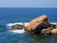 Where the rocks meet the sea - by Iacovos Constantinou