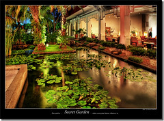 Secret Garden (grantthai) Tags: rain garden thailand pond nightshot entrance reception raining hdr pattaya 3xp 35faves amarihotel 25faves mywinners colorphotoaward aplusphoto favoritegarden superhearts excapture