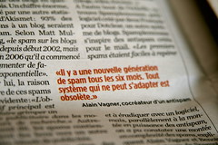 Alain dans Libration (Laurence Vagner) Tags: spam journal libration alainvagner