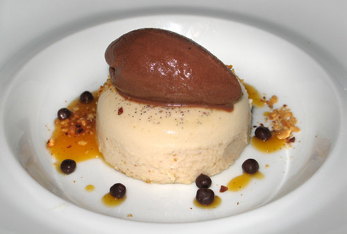 Hazelnut Panna Cotta with Chocolate Sorbet