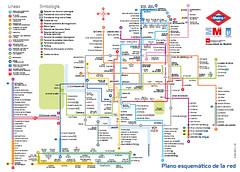 Plano del Metro de Madrid - Oficial