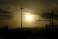 Burning Railway (Andrea_b.) Tags: sunset sky italy yellow railway burning naturalmente anawesomeshot theperfectphotographer