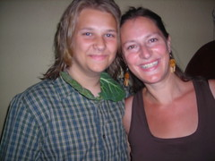 Karen with Gardiner in his collard shirt (karenfinleybreeding) Tags: shirt karen gardiner collard