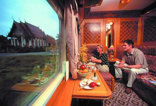 Eastern & Oriental Express - Carriage with fanciful view