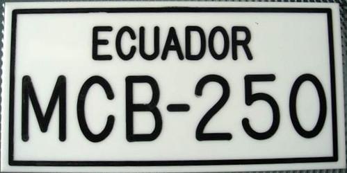 Ecuador (Manabí) License Plate