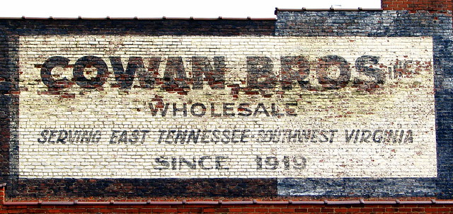 Cowan Bros. Wholesale faded wall ad