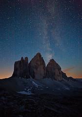 _MG_0409 (www.niccolobonfadini.com) Tags: italy canon way stars landscape tramonto di 5d tre milky 1740 paesaggio rifugio stelle cime locatelli lavaredo enrosadira
