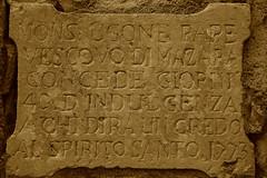 indulgenza - sign in the wall (kikkedikikka) Tags: light history sign wall memory sicily sicilia memoria erice trapani storia indulgenza rgspaesaggio rgscastelli rgsnatura rgsscorci indulgency