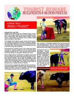 Kinship Circle - Factsheet - Bullfights & Blood Fiestas