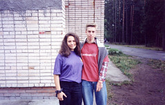 me and stas (carrie227) Tags: travel me stpetersburg russia scanned carrie stas reebok purpleshirt pointandclick pointandclickcamera barbash