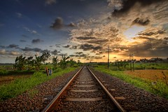 ... (Suharwan) Tags: indonesia traintracks hdr canonefs1022mmf3545usm canoneos30d 3exp colorphotoaward blackribbonbeauty cilacapcentraljava