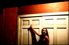 everybodysinahurryhereinpurgatory exceptforme i'mwhereineedtobe (Box of Light) Tags: travel light red woman face bar dark blurry lowlight downtown doors arm bodylanguage sharp charleston slowshutter lindsey besty holdingon boxoflight anidifrancolyric