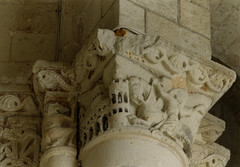 Cunault, Loire, glise Notre-Dame, capital (groenling) Tags: horse tower monster cheval tour capital loire monstre chapiteau cunault glisenotredame