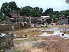 The village around the school in Congotown