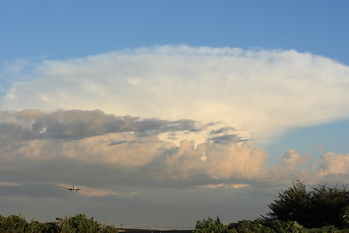 Cumulonimbus reached to troposphere field side