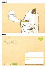 Cool card design (Bubi Au Yeung) Tags: trip baby toy design drawing taiwan exhibition event card figure crazylabel treeson designedbybubiauyeung