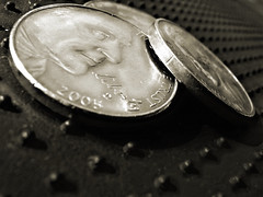 That and a quarter will get you a cup of coffee. (RichTatum) Tags: 2005 wallpaper usa money macro monochrome face metal closeup sepia america silver mouth landscape liberty gold freedom franklin marketing nikon treasure unitedstates nashville coins five dough faith mint cash credit gift round offering copper change donation nickel 3200 romeoville brass economy currency income tender bulletin loan dinero draft finance mortgage fee mammon legaltender lucre debt payment paid earning 5cents indebted ingodwetrust fivecents coppery nikon3200 stewardship tithe lucrative tithing almightydollar remuneration blogrodent coldcash richtatum lumisGallery:blog=photoblog