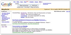 Google Blog Suche: Kanada