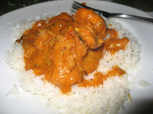 malabar curry with chicken and basmati rice