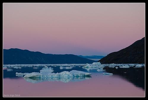 Sunset in Greenland, Nuuk