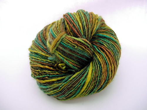 """Forest Moss"", single worsted/DK weight handspun"