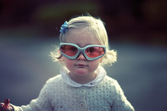 Nerfed Zelie (sparth) Tags: canon glasses kid child 85mm symetry 12 nerf 85mml 85mm12l nerfglasses