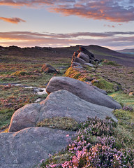 Line of Rocks, The Roaches, Staffordshire (TimSmalley) Tags: sunset landscape rocks peakdistrict staffordshire eveninglight theroaches upperhulme