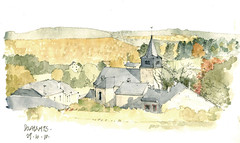 Dochamps (gerard michel) Tags: automne sketch belgium aquarelle watercolour luxembourg croquis dochamps