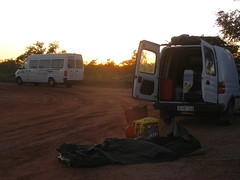 Camping Near Sandfire (MeekaMeldy) Tags: camping homeless outback swag sandfireroadhouse contractcleaning holdencombo