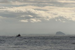 Sailing Home. (stonefaction) Tags: rock port river landscape scotland boat fishing scenery bass fife forth ness firth faved