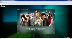 Second Life in je browser
