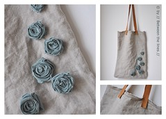 fabric roses - DIY Gift Ideas (// Between the Lines //) Tags: flowers roses diy linen sewing gifts folded fabricflowers fabricroses foldedflowers iheartlinen diygiftideas