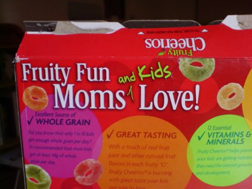 Fruity Cheerios for Moms & Kids Only