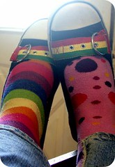 rainbow and polka dot dreams (indielove) Tags: feet socks rainbow shoes sneakers flats polkadots photo365