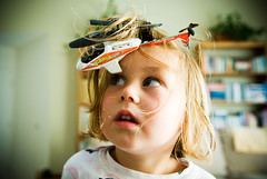 hairy landing (zinkwazi) Tags: cute kids sisters hair toys nikon crash accident landing helicopter phoebe d200 remotecontrol tangle rc recall