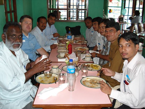 Breakfast with the Nepalese candidates
