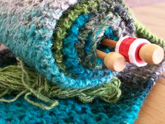 WIP: silk garden (greenolive*) Tags: green grey knitting handmade lace silk yarn noro focuslegacy