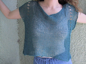 Linen Top pattern by Kat Coyle