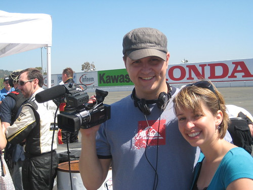 Amy and Ferf at Infineon Raceway